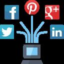 online marketing, web, laptop, seo, social media, connection, management, internet marketing, network icon