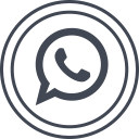 social, whatsapp, media, logo icon