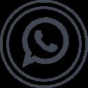 social, whatsapp, media, logo icon