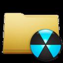 classic,folder,burn icon