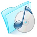 folder blue musique icon