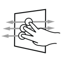finger, pan, aggressive, three, gestureworks icon
