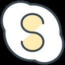 video, skype, social, communication, chat, media icon