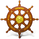 pirate, navigate, ship, wheel icon