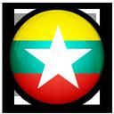 burma, of, myanmar, flag icon