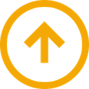 trend, direction, arrow, neutral, up icon