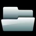 silver, open, generic, folder icon