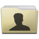beige folder user icon
