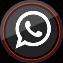 whatsapp, social, media, logo icon
