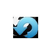 Blue, Ccw, Rotate, Sub icon