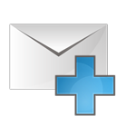 plus, envelope icon
