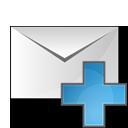 plus, envelope icon