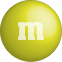chocolate, color, m&m, yellow, colour icon