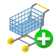 add, shopping, ecommerce, cart icon