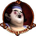 lady, fat icon