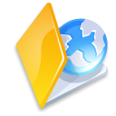 web, folder, yellow icon