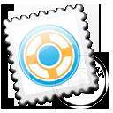 stamp, postage, grey, designfloat icon