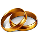 marriage, rings, wedding, party icon
