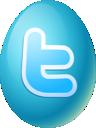 egg, twitter, easter icon