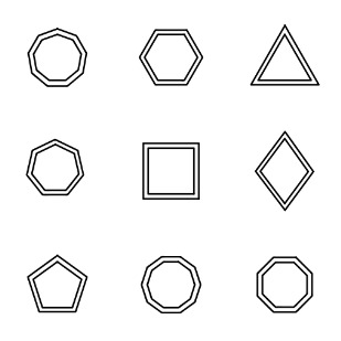 Shapes 101 icon sets preview