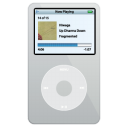 video, silver, ipod icon