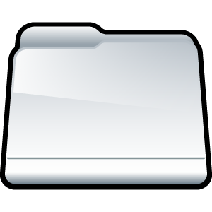 white, folder, generic icon