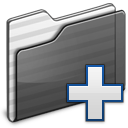 folder, new, black icon