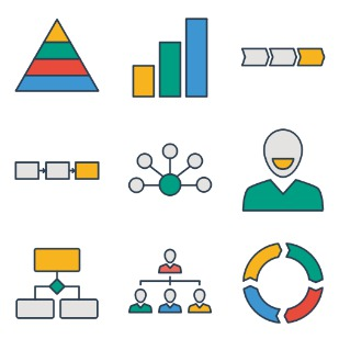 Business process 1 icon sets preview