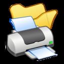 folder,yellow,printer icon