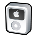 video, white, ipod icon
