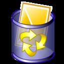 trash, mail icon
