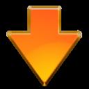 download, descend, decrease, descending, fall, down, new icon
