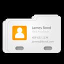 james bond, vcard, contact icon