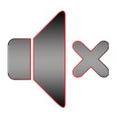 Speaker mute logo icon