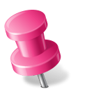 Map Marker Push Pin 2 Left Pink icon