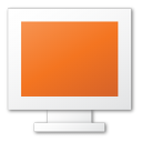 display, monitor, computer, red, screen icon