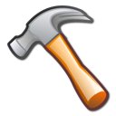 development, tool, package, hammer icon