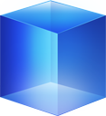 cube, blue icon
