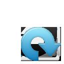 Blue, Cw, Rotate, Sub icon
