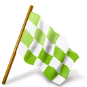 chequeredflag, chartreuse, mapmarker, right icon