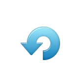 rotate, blue, ccw, sub icon
