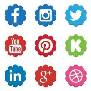 Social Media icon sets preview