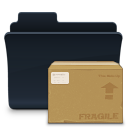 badged, pack, folder, package icon