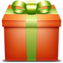 orange,gift,box icon