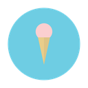 cone, cream, dessert, ice, strawberry icon