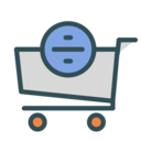 Cart divide icon