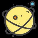 univearse, mars, telestial, space, planet icon