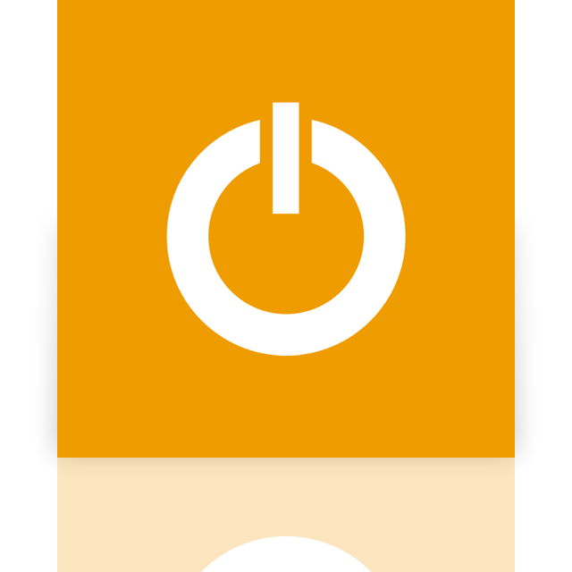 standby, mirror, power icon