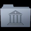 Library Folder Graphite icon