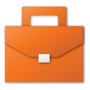 red, suitcase, job, career, case, briefcase icon